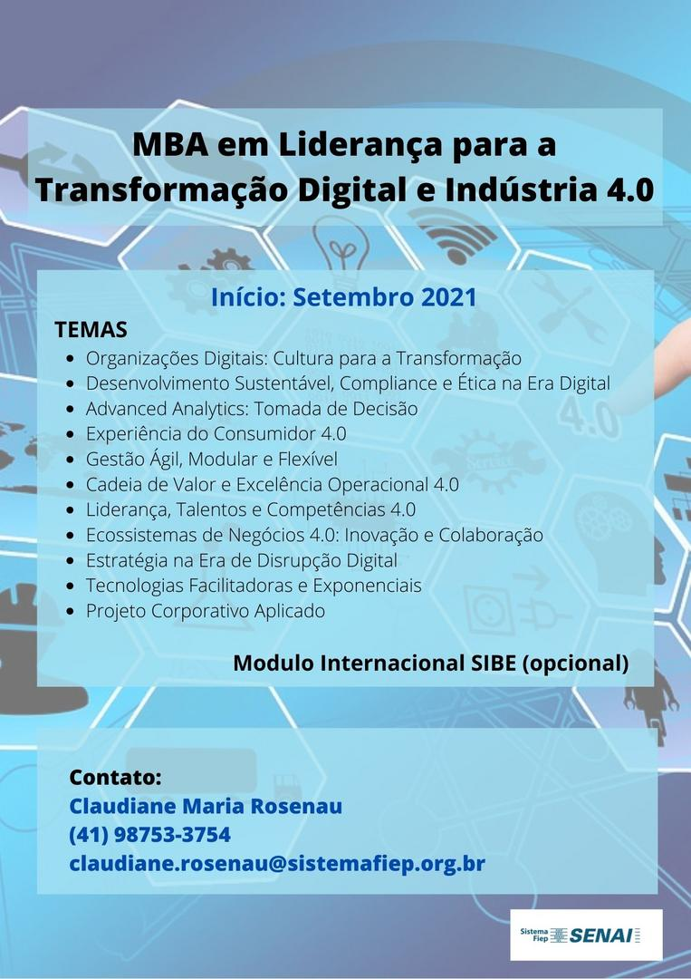 MBA em Liderança para Transformação Digital e Indústria 4.0