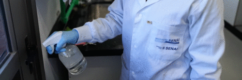 Spray que protege superfícies da contaminação por coronavírus será desenvolvido com apoio do Senai no Paraná